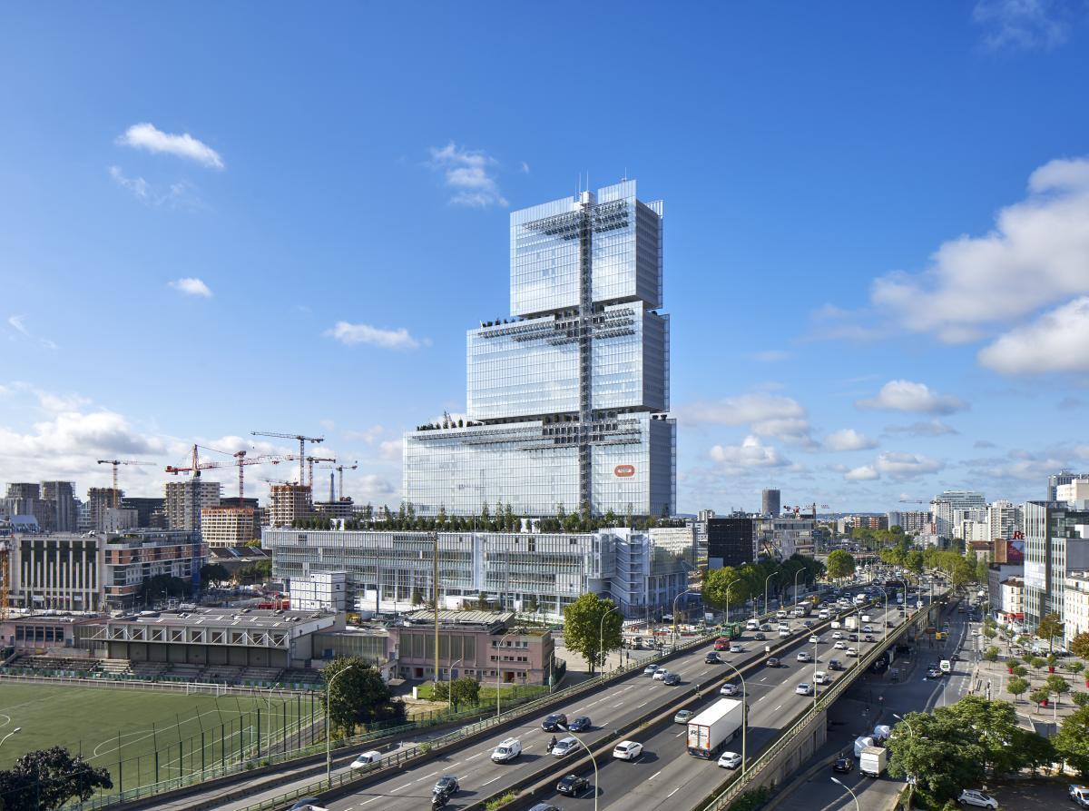Le Tribunal de Paris vu depuis le Boulevard Périphérique