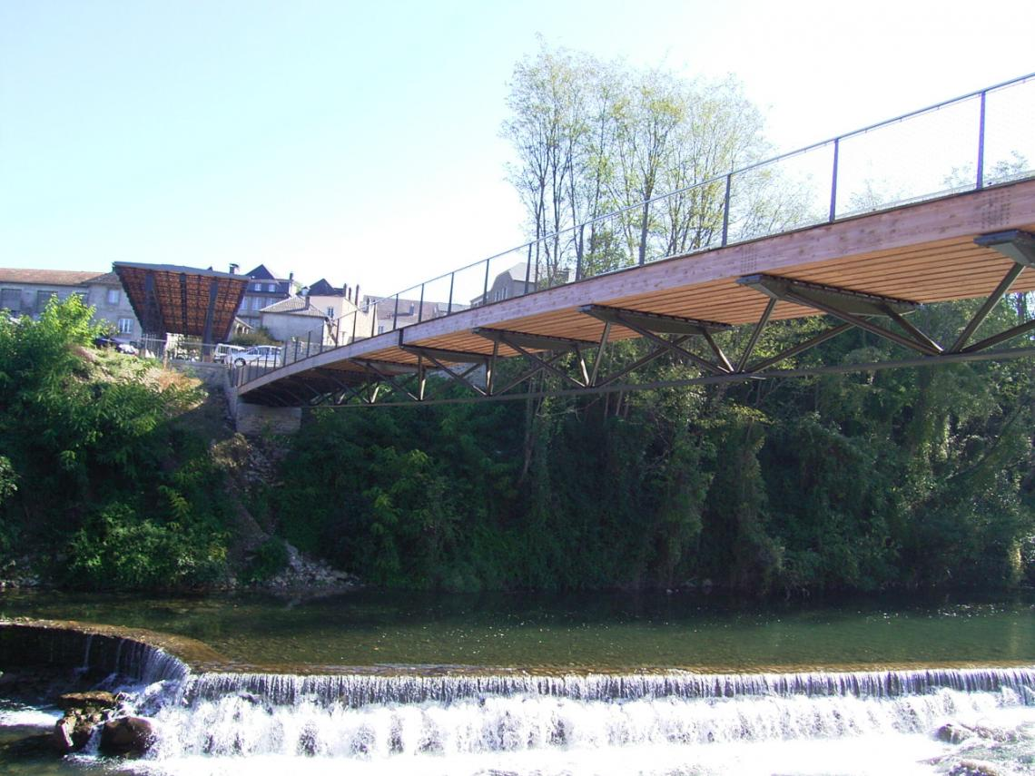 Footbridges in Oloron Sainte Marie