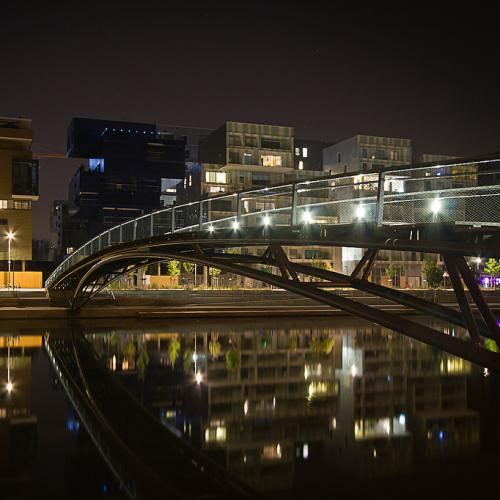 Lyon Confluence footbridge